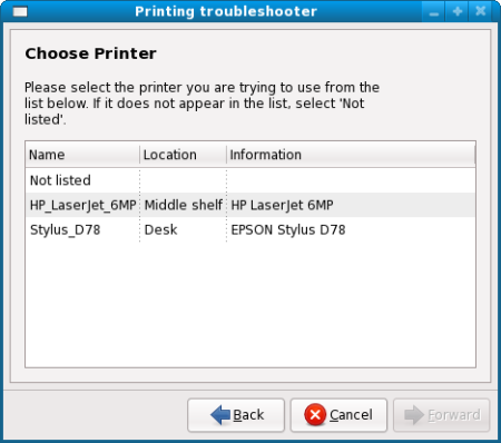 Choose printer