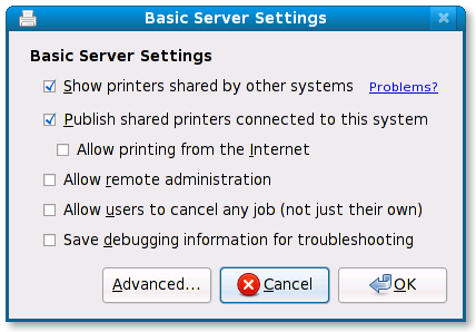 Basic Server Settings