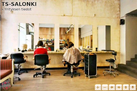 inside a hairdresser's