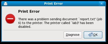 Print Error